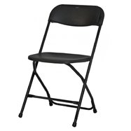 Plastová skládací židle ALEX CHAIR - černá