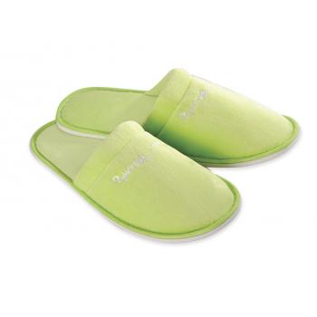 Pantofle froté velur, uzavřená špička, zelené, Nature Philosophy