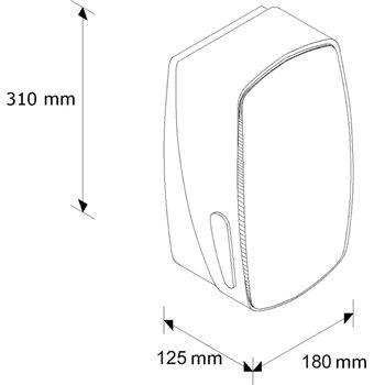 Zásobník na toaletní papír Merida MERCURY BMS401