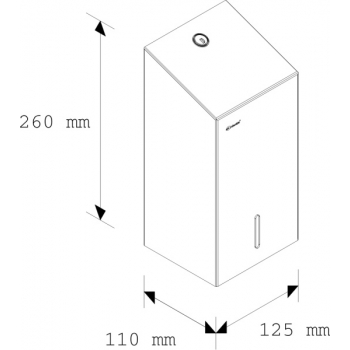 Zásobník na skládaný toaletní papír STELLA - lesklý