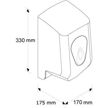 Zásobník na papírové ručníky v rolích MERIDA TOP - MINI