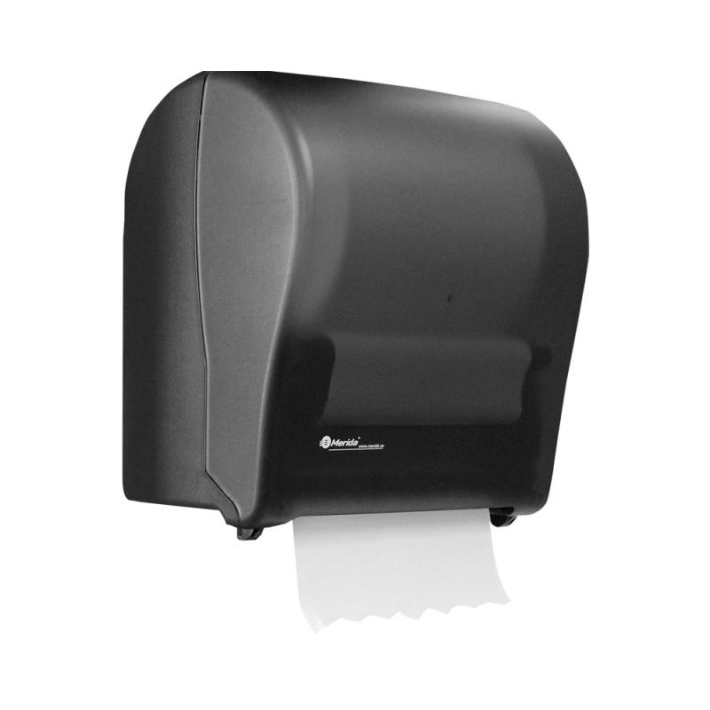 Mechanický podavač papírových ručníků MERIDA SOLID CUT, černý, MAXI role
