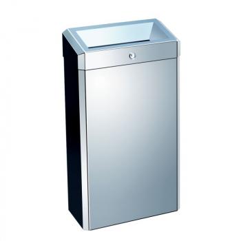 Odpadkový koš otevřený STELLA, 27 litrů - lesklý