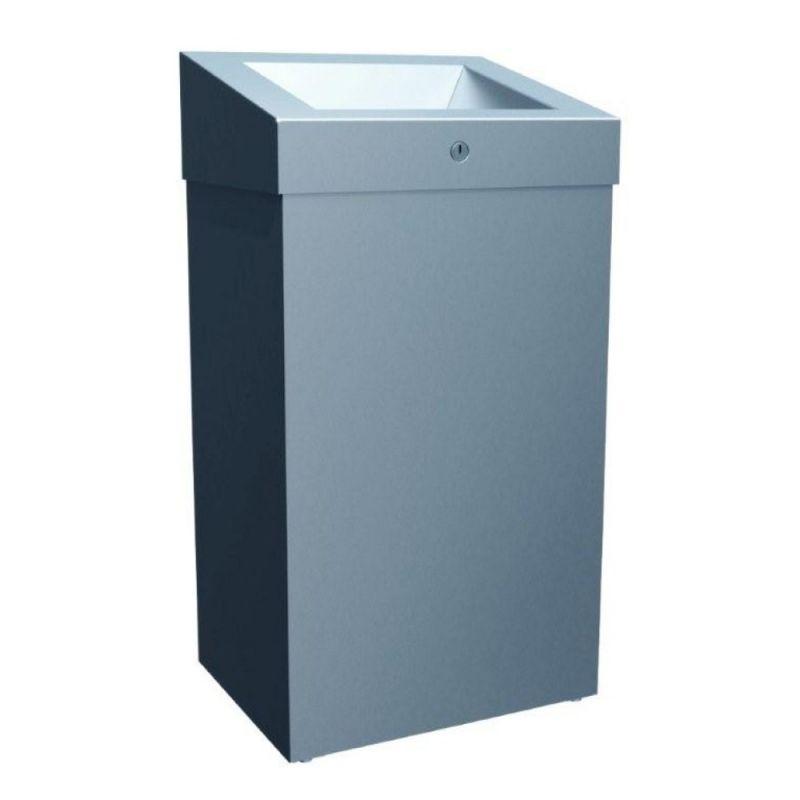 Odpadkový koš otevřený STELLA PLUS, 47 litrů- matný