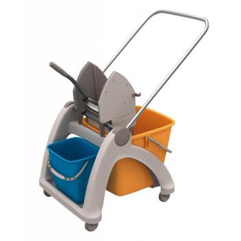 Úklidový vozík s plastovou konstrukcí MO2P