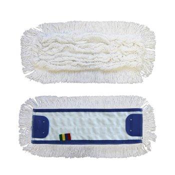 Mop plochý uzlíčkový se záložkami OPTIMUM,bavlna, 40 cm