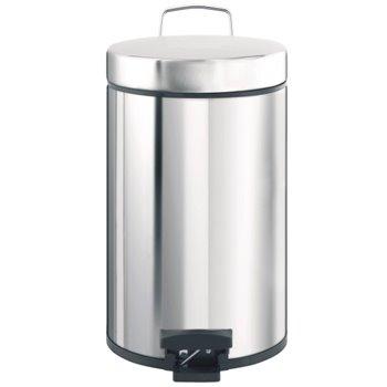Odpadkový Koš nášlapný kovový nerez lesk 30 l