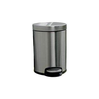 Odpadkový Koš s pedálem SILENT, kovový, matový, 5 l