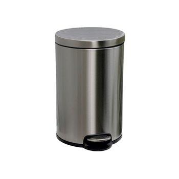 Odpadkový Koš s pedálem SILENT, kovový, matový, 12 l