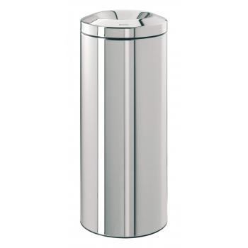 Odpadkový kovový Koš samozhášecí  30 l nerez lesk