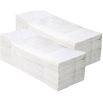 Jednotlivé papírové ručníky EKONOM BÍLÉ, 5000 ks, 1 vrstvé (dříve PZ27)