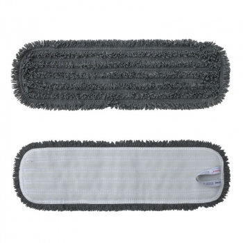 Mop z mikrovlákna STANDARD, suchý zip, 47 cm, šedý