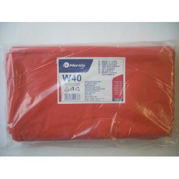 Pytle na odpadky LDPE, 38 mi, 70x110cm,120 l,červené 50 ks/b