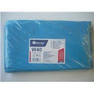 Pytle na odpadky LDPE, 38 mi, 70x110cm,120 l,modré 50 ks/b