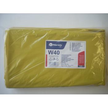 Pytle na odpadky LDPE, 38 mi, 70x110cm,120 l,žluté 50 ks/b