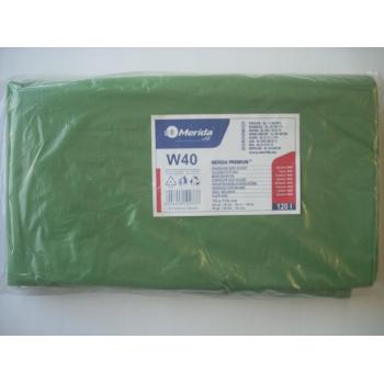 Pytle na odpadky LDPE, 38 mi, 70x110cm,120 l,zelené 50 ks/b