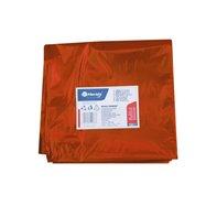 Pytle na odpadky LDPE, 40 mi,90x110cm,160 l, červené. 10ks/b