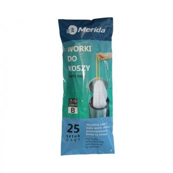 MERIDA TOP sáčky 7-10 l., bílé, zatahovací, parfémované, 25 ks/role