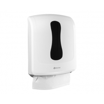 Zásobník na jednotlivé papírové ručníky MERIDA ONE - MAXI, bílý + 2 kart. pap. ruč. VTB201