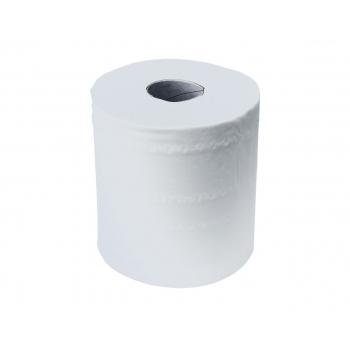 Papírové ručníky v rolích TOP MAXI FLEXI, bílé, 2 vrst., 100% celulóza,158m, (6 rolí/bal.)