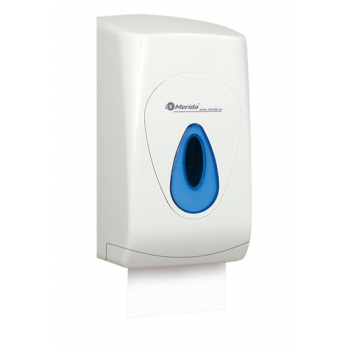 Zásobník na SKLÁDANÝ toaletní papír MERIDA TOP, modré okénko