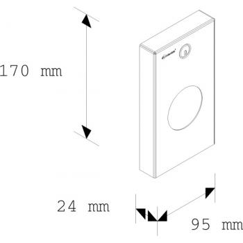 Zásobník na hygienické sáčky STELLA - matný