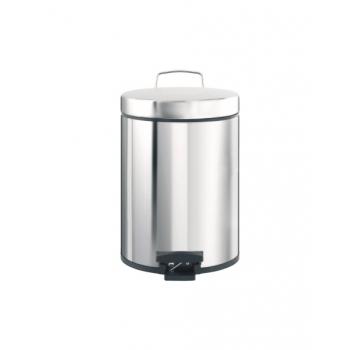 Odpadkový Koš nášlapný kovový nerez lesk 5 l