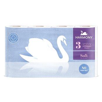 HARMONY soft toaletní papír, 3 - vrstvý recykl, 8 rolí