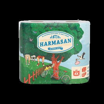 HARMASAN toaletní papír, 2 - vrstvý, recykl, 4 role