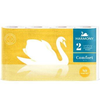 HARMONY toaletní papír comfort 8, 2 vrstvy, bílý