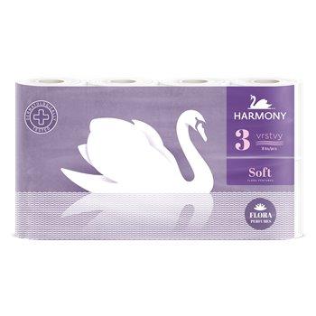 HARMONY soft flora, toaletní papír, 8 rolí