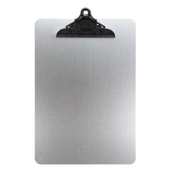 Jednoduchý jídelní lístek A4 pro denní nabídku se sponou, z kovu, barva stříbrná