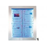 Barevný informační LED displej Securit (4 x A4) - nerez