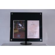 LED informační displej Securit (2 x A4) - poly-akrylát
