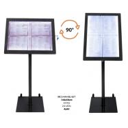 Otočný informační LED displej Securit (4 x A4) - černý