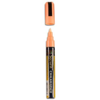 Popisovač Securit s tekutou křídou 2 - 6 mm - oranžová