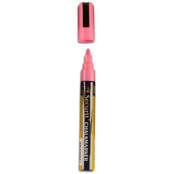 Popisovač Securit s tekutou křídou 2 - 6 mm - růžová