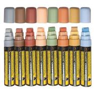 Sada 8 silných popisovačů,šířka hrotu 7-15mm,různé přírodní barvy