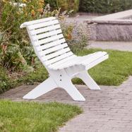 Parková lavička, bílá