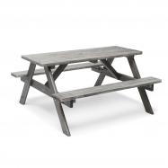 Piknikový stůl, 1500x1350 mm, šedý