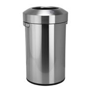 Odpadkový koš s volným vhozem 90L, nerez brus