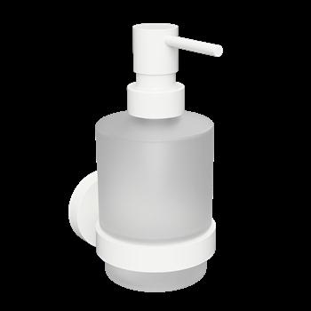WHITE: Dávkovač tekutého mýdla 200ml, sklo MINI