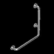 HELP: Nástěnné opěrné držadlo, 600x600 pravé, nerez