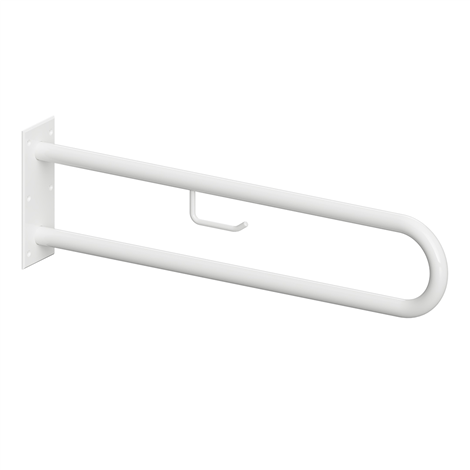 HELP: Podpěrné madlo ve tvaru U 600 mm, bílé, s držákem TP