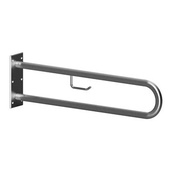 HELP: Podpěrné madlo ve tvaru U 813 mm, nerez brus, s držákem TP