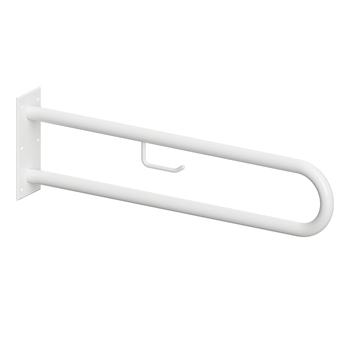 HELP: Podpěrné madlo ve tvaru U 850 mm, bílé, s držákem TP