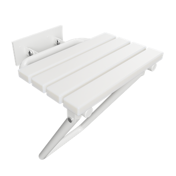 HELP: Sklopné sprchové sedátko s nohou a krytkou, bílé