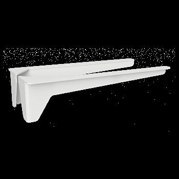 Konzole umyvadlová 400 mm, bílá, zátěž 30 kg, pár