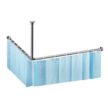 Tyč sprchového závěsu rohová, 1400x1400 mm