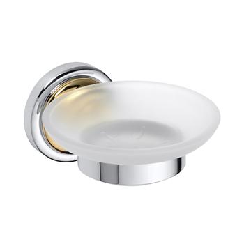 RETRO zlato-chrom: Mýdlenka skleněná